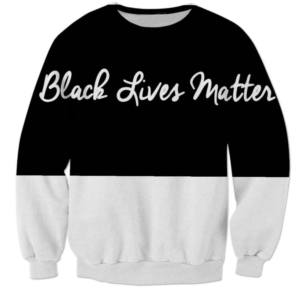 2017 NEW Hot Fashion men women top cool 3D print Black and white text sweatshirt enchantress pullover hoodies wholesale dropship