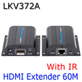 New HDMI 1080P Extender With IR Converter Up to 60M,Video/Audio full HD Signal Extender Over Cat6/Cat7,LKV372A Free shipping