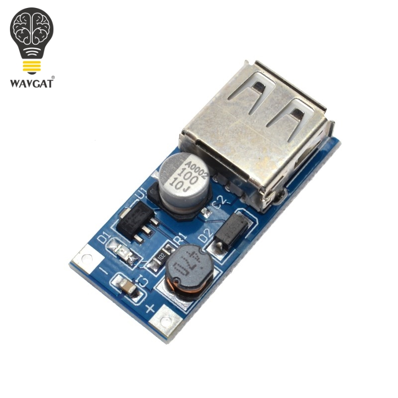 WAVGAT DC-DC USB Output charger step up Power Boost Module 0.9V ~ 5V to 5V 600MA USB Mobile Power Boost Board. image