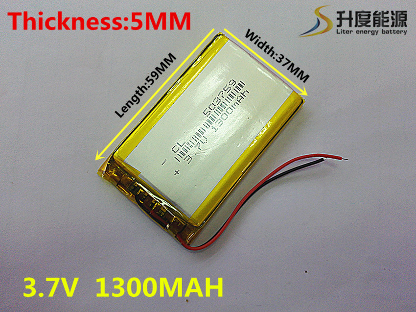 best battery brand Size 503759 3.7V 1300mah Lithium polymer Battery with Protection Board For GPS Bluetooth Digital Products Fre 3 7v lithium polymer battery 584070 2400mah electronic products built