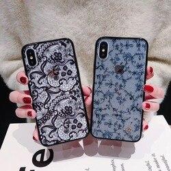 Роскошный модный чехол для телефона с красивым цветочным кружевом и цветочным узором для iPhone 11 Pro Max XS Max XR X 8 7 6 6S Plus