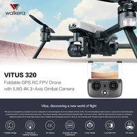 Walkera Вита 320 складной камера HD 4k 5,8g FPV Радиоуправляемый Дрон Quadcopter самолет с 3 осное gps препятствием AR игры