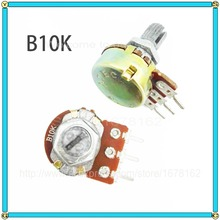 10pcs/lot WH148 B10K 10K OHM Single union potentiometer Linear Taper Rotary Potentiometer 10K B10K shaft 15mm(China)