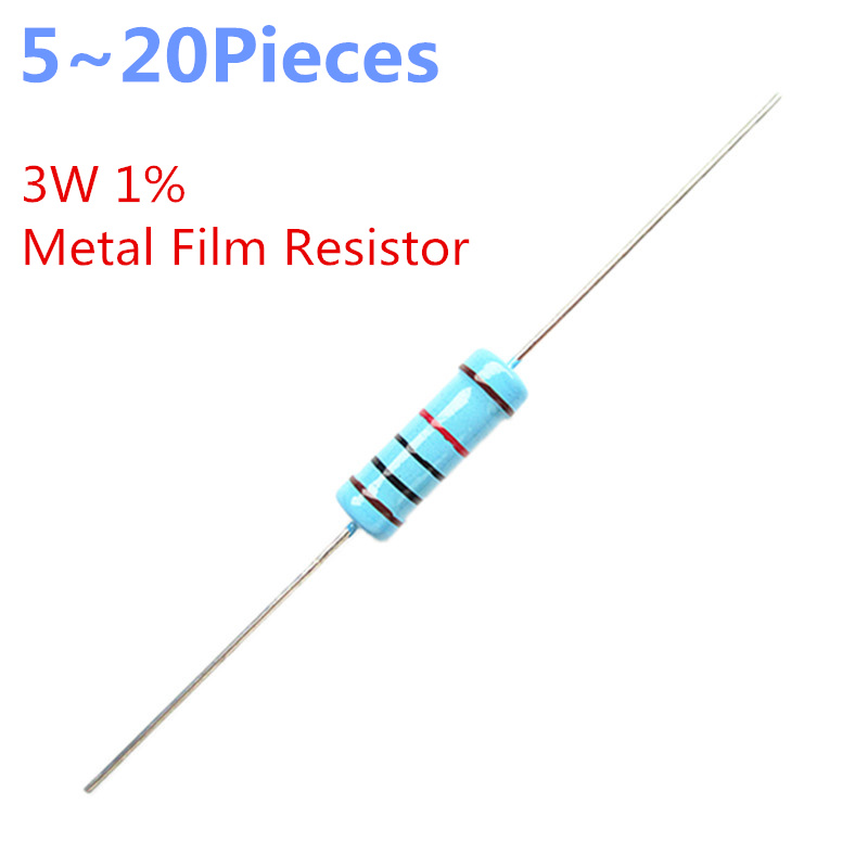 1/% Tolerance Metal Film Resistor 120 Ohm 3 Watt 3W 10 Pieces
