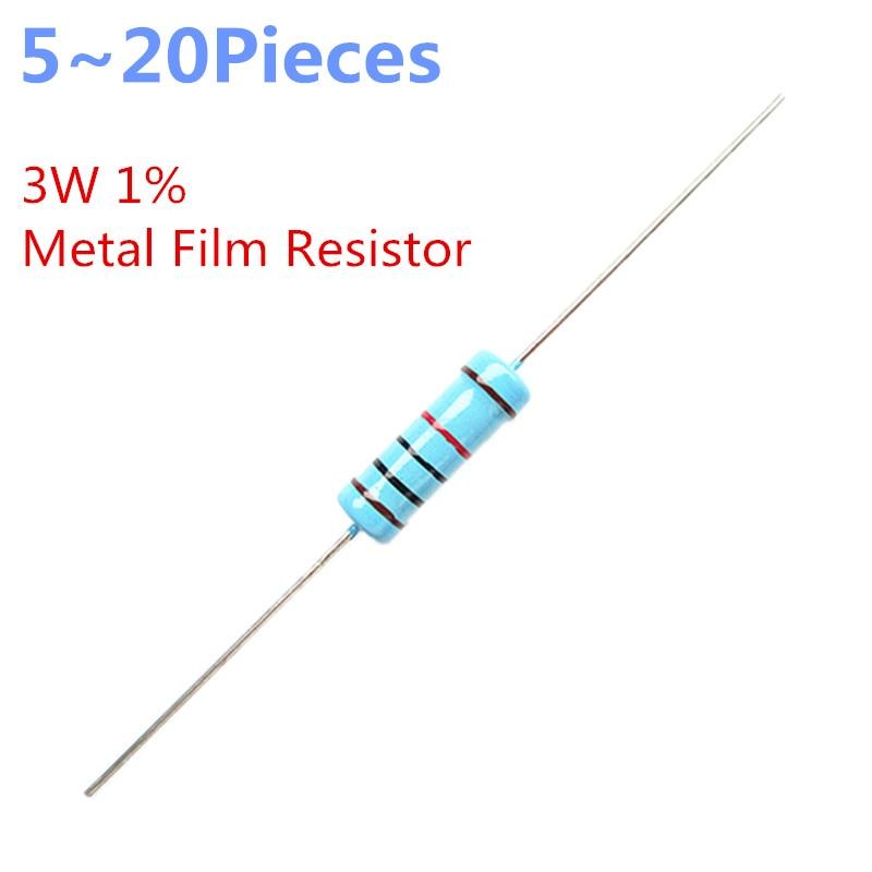 Through Hole Résistance ± 5/% CFR Série 1 W 100 kohm 500 V axial au plomb