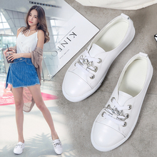 2019 Spring Women Ballet Flats Genuine Leather Rubber Lace Up Ladies Chaussure Femme Loafers Ballerina Sneakers Shoes Woman 185