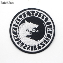 A0268 Patchfan Newest Personality Embroidered Viking Patches Iron or Sew on DIY Patchwork for hat bag shoe Applique accessories