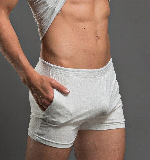 Alta Qualidade dos homens Superbody calções Homens sexy Boxer Shorts Trunks Algodão sólida Roupas de Marca Shorts Homens Boxers Casa Dormir desgaste
