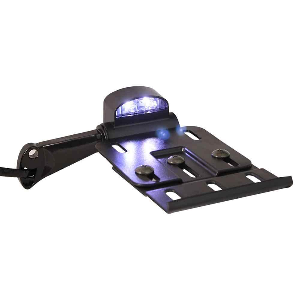 אופנוע קפה רייסר טלסקופית מתקפל LED אור לוחית רישוי צד הר Fit עבור הארלי Sportster הפר Bobber