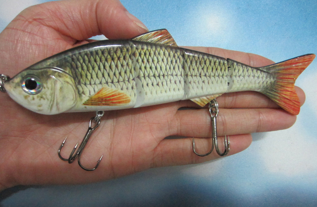 Big size 152mm 36g lifelike multi jointed bass pike for Big fish tackle