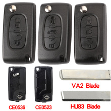 Jingyuqin корпус для автомобильного ключа HU83 CE0536/523 для peugeot 107 207 307 407 308 408 партнер Citroen C3 C4 C5 C6 Berlingo; Picasso Xsara