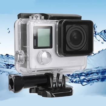 For Gopro Waterproof Housing Case hero 4 Hero3+Hero 3 Underwater Protective Box Go pro Accessories - discount item  61% OFF Camera & Photo