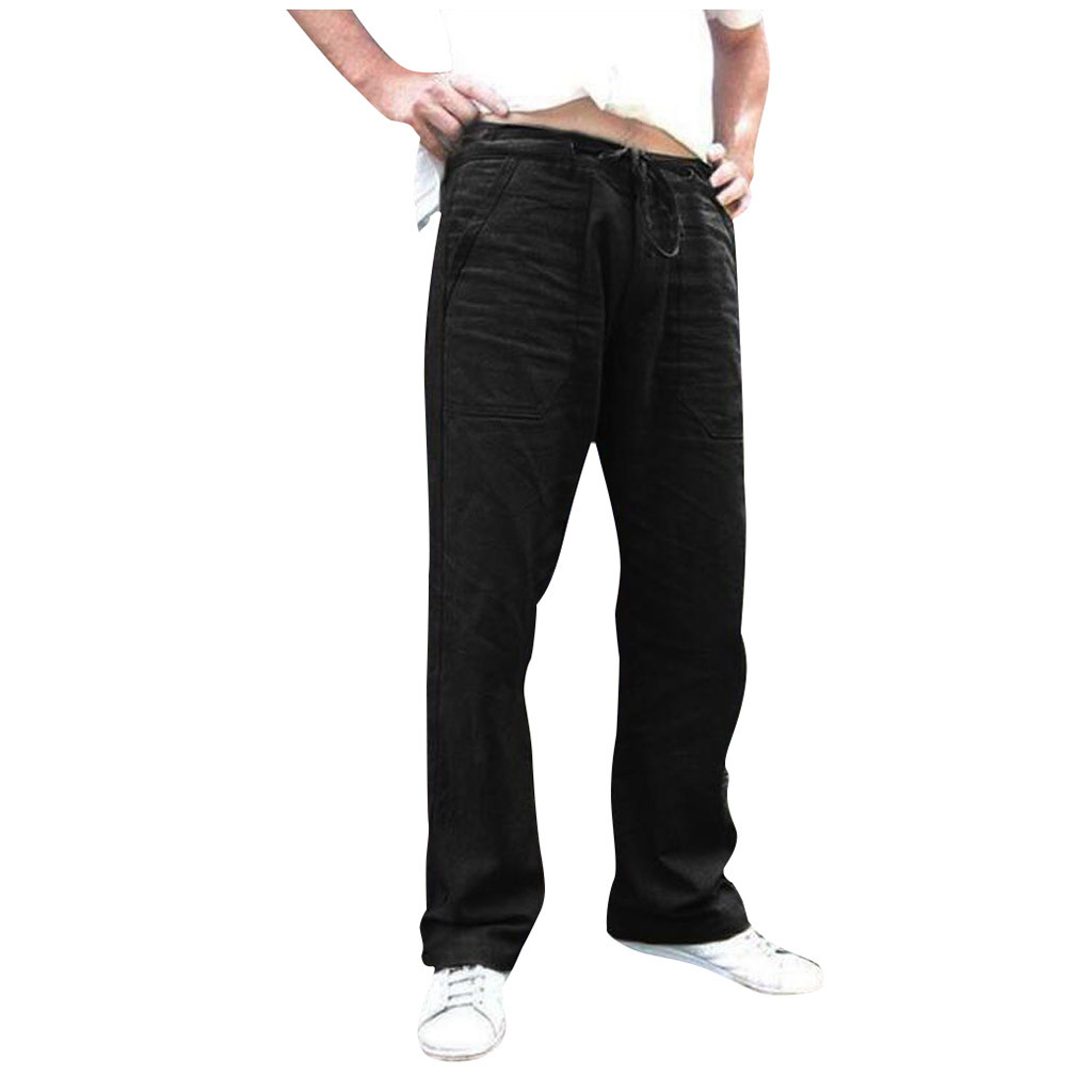 Men Pant Men Splicing Printed Overalls Casual Pocket Sport Work Casual Trouser Pants Men's High Quality Brand Men Pants