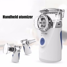 Portable Ultrasonic Nebulizer Mini Handheld Inhaler Respirator Humidifier Face Steaming Children Home Inhaler Machine Atomizer portable mini handheld facial steamer nebuliser steaming skin care atomizer respirator humidifier adult kid inhaler nebulizer