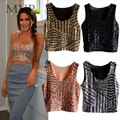 FANALA Summer Crop Top Women's Sequin Tank Tops 2017 Sling Camisole Sexy Camis Vest T-Shirt Slim Crop Tops