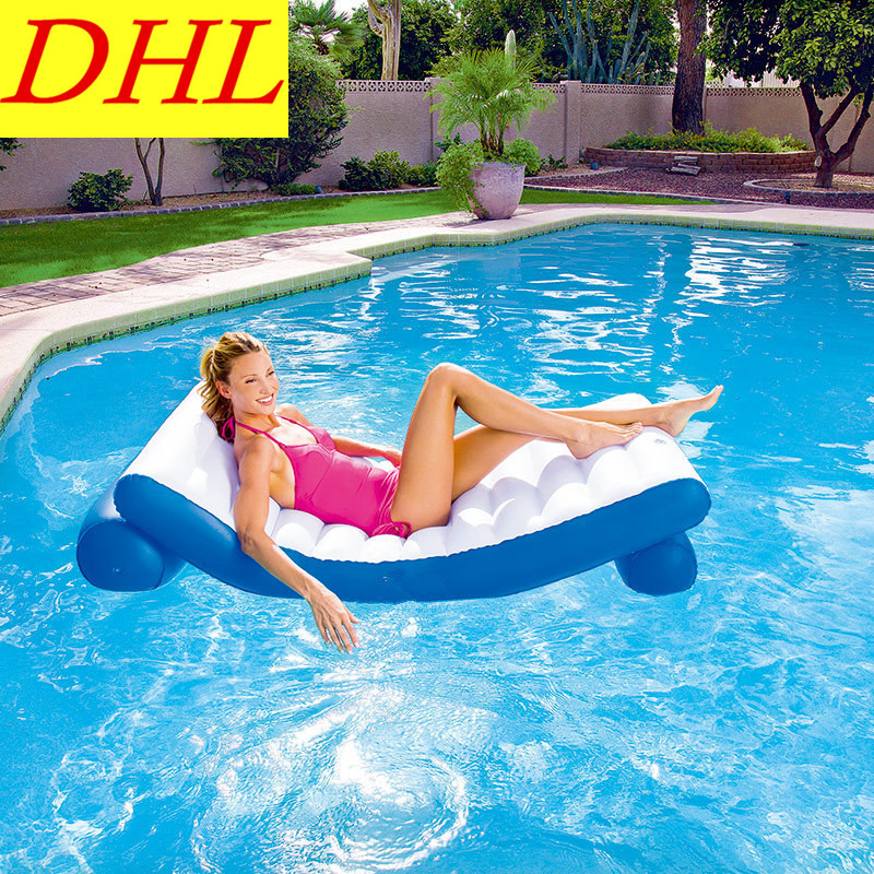 Summer Inflatable Floating Mat Outdoor WATER PARK Sunbathe Recliner Mattress Life Buoy S ...