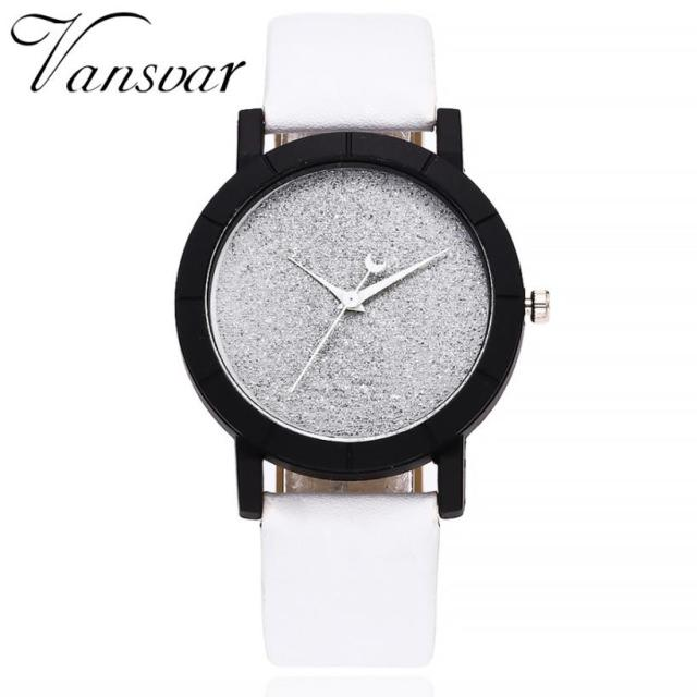 2018 Luxury European Style vansvar Ladies Watches Leather Elegant Dial Women Wat