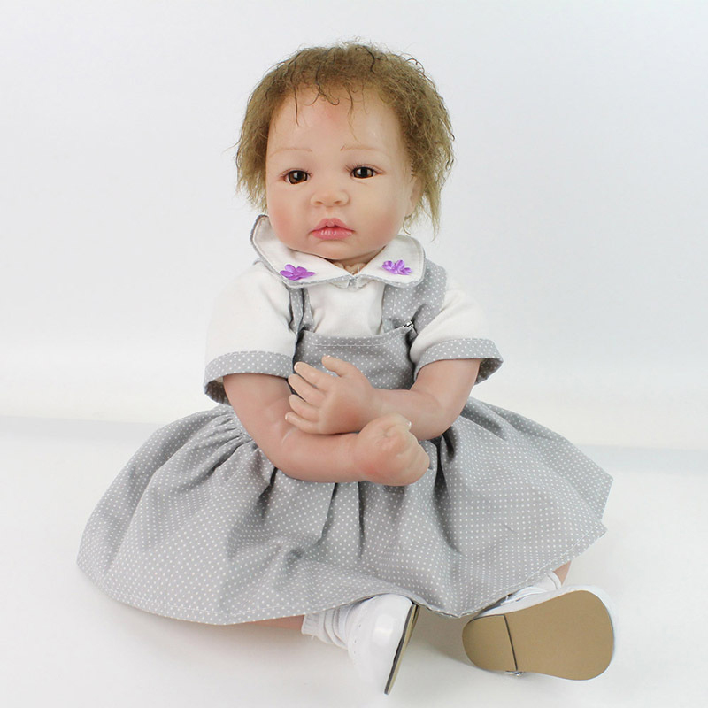 NPK Reborn Baby Doll Handmade Realistic Dolls 50cm Vinyl Bebe Kid Playmate Alive Soft Toy Play House Toys Photo Props Brinquedos