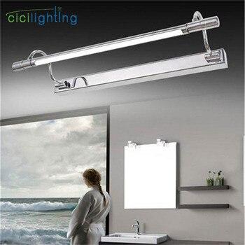 100 V-240 V 10 W 65 centimetri D'argento del Bicromato di Potassio di illuminazione a LED specchio per il trucco luce del bagno lampada mobile Da Cucina lampada da specchio da parete