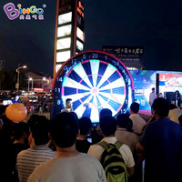 5m/16.4ft. High Giant inflatable football dart board target with stick soccer balls, sport event game toy