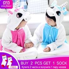 Kigurumi Pajamas for Children Girls Unicorn Anime Panda Onesie Kids Costume Boys Sleepwear Pokemon Jumpsuit Licorne Animal 2-12