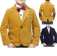High Quality Child Kid Boy Button Casual Blazer Jacket
