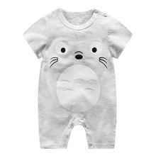 baby clothes Summer baby rompers Short sleeve Newborn Infant Baby Boy Girl clothes Cartoon Printed Jumpsuit Climbing Clothes