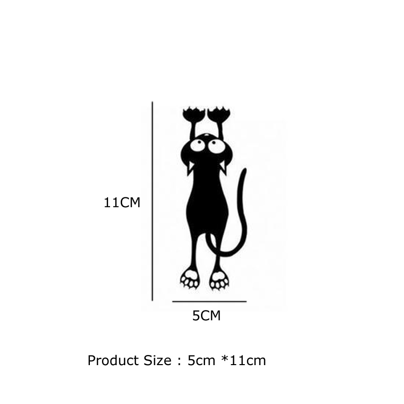Black Cute Kitten Switch Sticker for home decor Vinyl Living Room background decals individuality Cartoon cat Wall Stickers