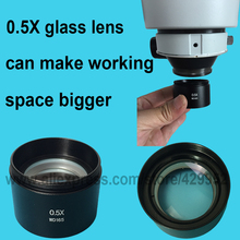 Best price efix 0.5X Barlow Auxiliary Glass Lens For Industry Digital Video Stereo Microscope Camera Objective Lens