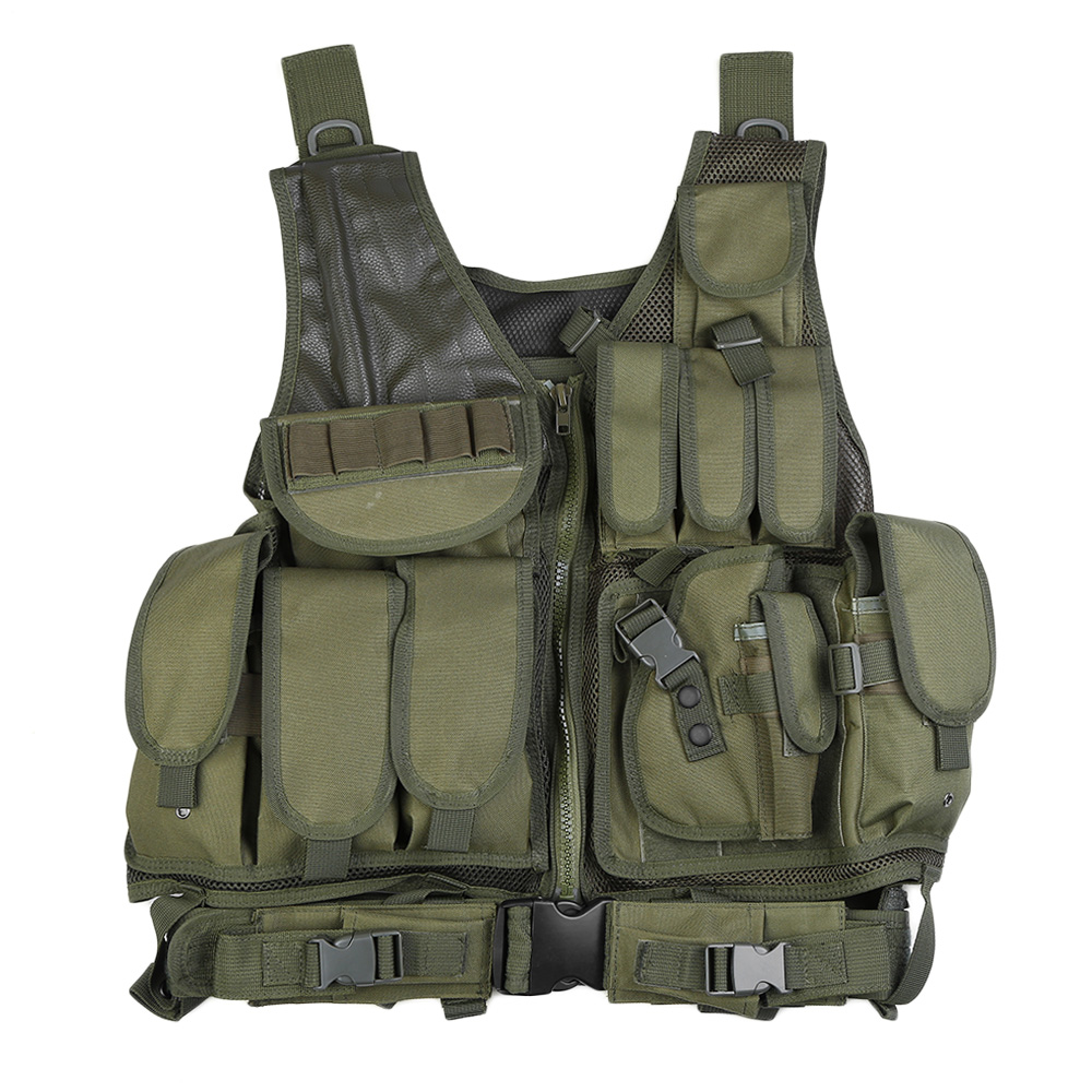 Outlife Army Hunting Military Tactical Vest Camouflage Men Tactical Paintball Military Vest Pouch Swat Assault Molle Holster