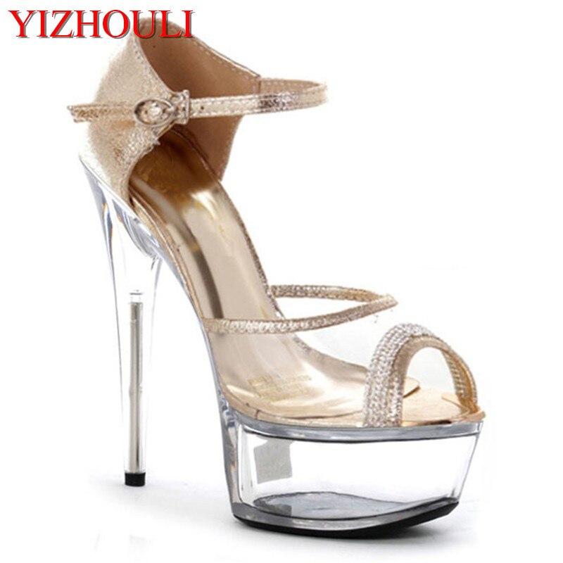 43eced2177b8cd Pôle Unique La Talon 15 argent chaussures Plus Haut Plateformes 01 Belle  DanseSandalesRobe Taille Fleur Plate Chaussures Mariage ...