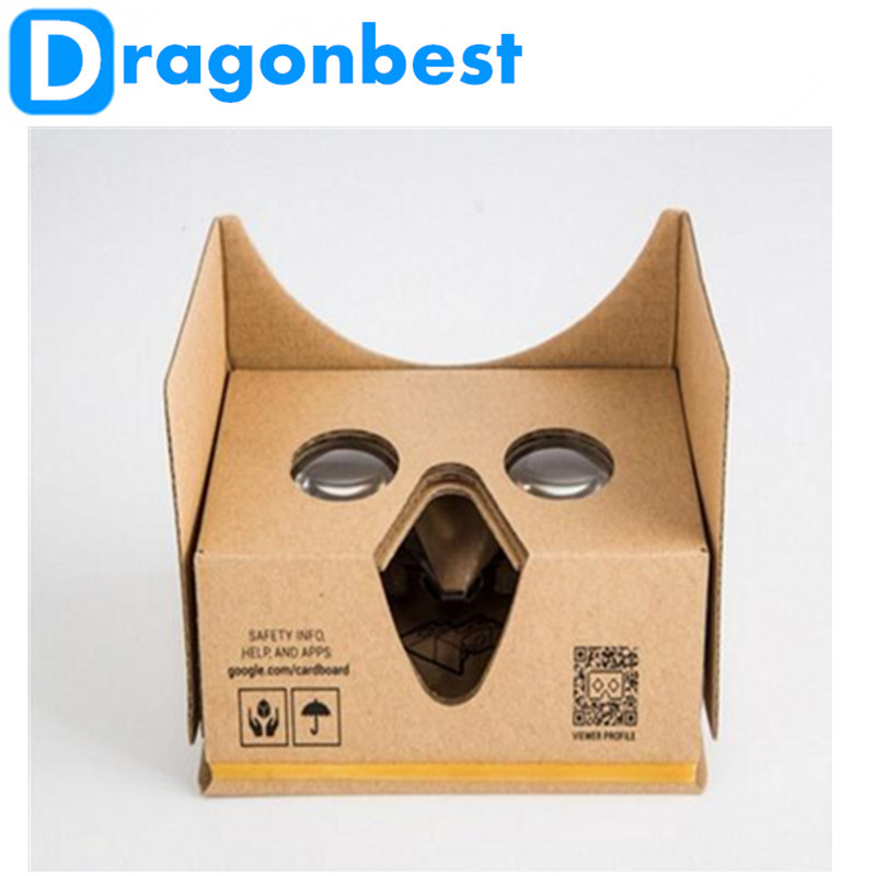 1pcs New Google cardboard 2 0 Plastic Virtual Reality VR 3D glasses for 3 5 6