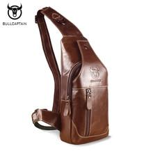 BULL CAPTAIN font b 2017 b font Fashion Genuine Leather Crossbody Bags men casual messenger bag