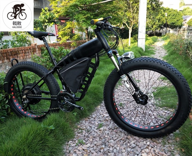 Electric Fat Bike >> Us 1414 9 Aliexpress Com Buy Kalosse Electric Fat Bike Beach Bicycle 24 Speed M310 60v 25ah 1500w 26 4 0 Tires Electrical Snow Bike From Reliable