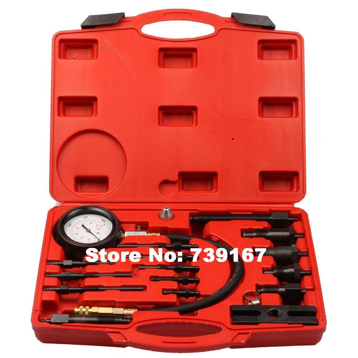 Car Diesel Engine Cylinder Presssure Diagnostic Tester Tool Auto Compression Detector Tool Kit ST0128