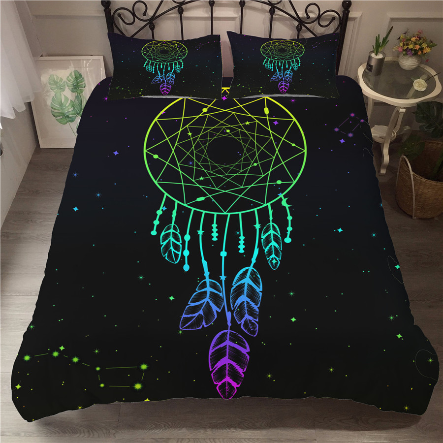 Bedding Set 3D Printed Duvet Cover Bed Set Dreamcatcher Bohemia Home Textiles For Adults Bedclothes With Pillowcase BMW11