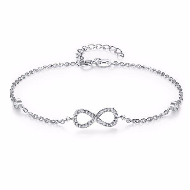 Tuliper 925 Sterling Silver Infinity Bowknot Bridal Cubic