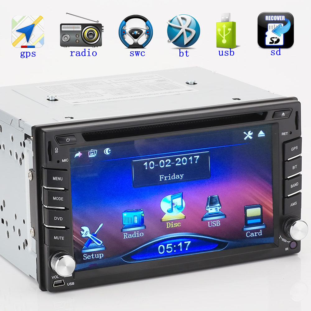 Car Dvd New Universal Radio Double 2 Din Player Gps Card Holder Name Holders 6215 Navigation Stereo Head Unit Video Free Map Shipping In Multimedia From