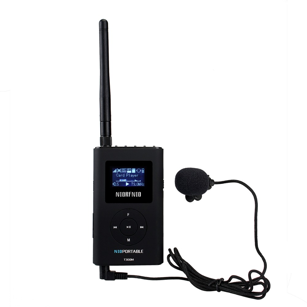 NIORFNIO Handheld Portable Radio 0.3W FM Transmitter MP3 Broadcast Radio Transmitter For Car Meeting Tour Guide Y4409A niorfnio 1w 6w pll fm transmitter mini radio stereo station xmitter intelligent broadcast system y4331d