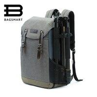 BAGSMART Для мужчин многофункциональный Камера рюкзак DSLR Мешок Для 15,6 ноутбуки Водонепроницаемый дождевик для Canon Nikon Камера аксессуары