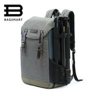 Men Woman Multifunctional Camera BAGSMART Backpack DSLR Bag For Laptops Waterproof Rain Cover For Canon Nikon