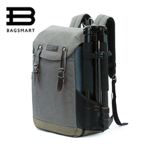 Bagsmart männer multifunktionale kamera rucksack dslr tasche für 15,6 laptops wasserdichte regen abdeckung für canon nikon kamera zubehör