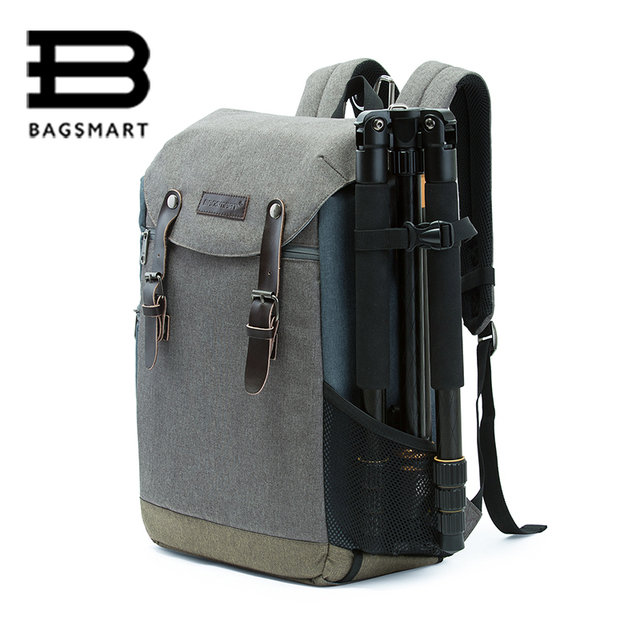 BAGSMART Men Multifunctional Camera Backpack DSLR Bag for 15.6 ...