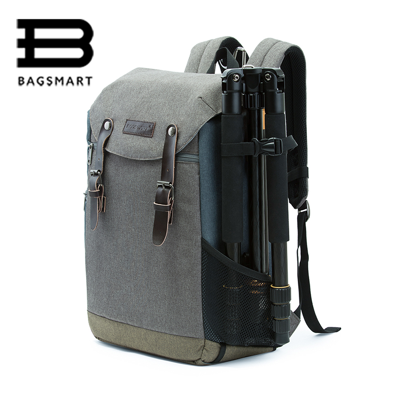 Men Woman Multifunctional Camera BAGSMART Backpack DSLR Bag for Laptops Waterproof Rain
