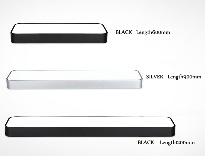 Luminaires suspendus modernes en aluminium de puce LED accrochant l'appareil d'éclairage de bande de fil pour la lampe d'étude de salle de conférence de bureau argent/noir - 3