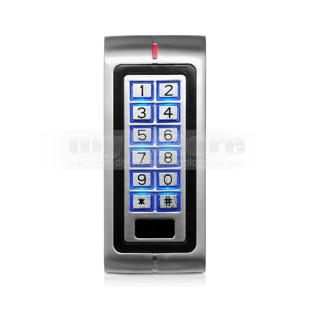 ФОТО DIYSECUR New Metal Case 125KHz RFID Reader Keypad Access Controller for House / Office Safety Use K2