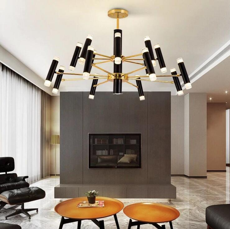 купить Nordic chandelier creative postmodern minimalist living room designer dining room bedroom personality atmosphere art villa light онлайн