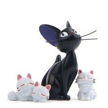 СЛУЖБА ДОСТАВКИ Jiji из смолы, статуэтки кошек, белые животные, украшения, Черный кот, Кики, гигантские искусственные украшения для сада