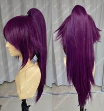 WIG Bleach Shihouin Yoruichi 60cm Purple Lolita Cosplay Party Wig w/ Ponytail Free Shipping(China)