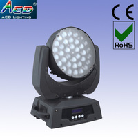 wholesale 10 60 degree auto adjustment zoom acd lighting LED Moving Head Zoom Light RGBW 4IN1 Color Mixing led stage light